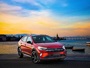 Bilder Volkswagen Rot Metallisch 2020 Nivus Highline 200 TSI Launching Edition Latam
