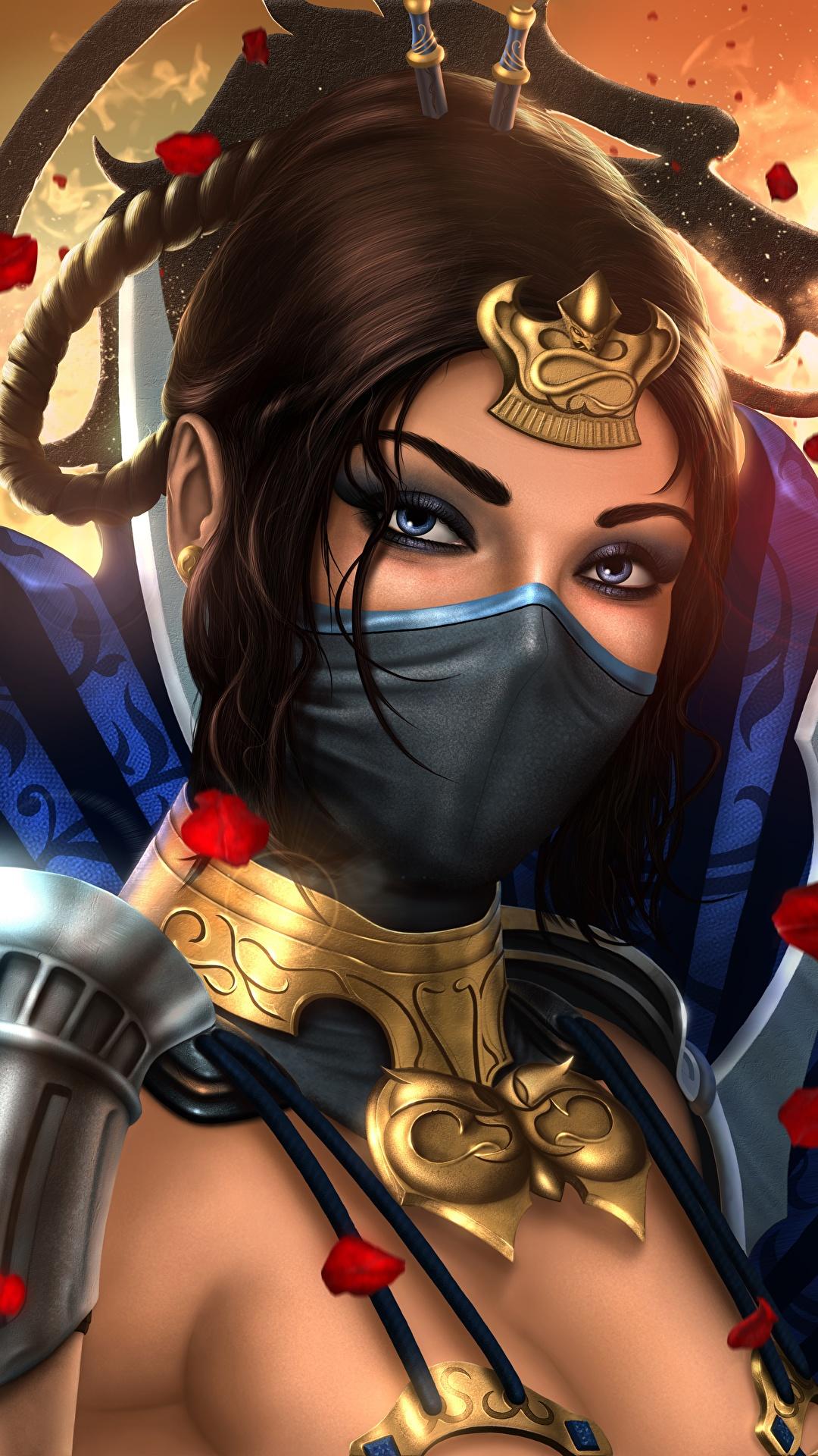 Desktop Wallpapers Mortal Kombat Warriors Kitana Beautiful 1080x1920
