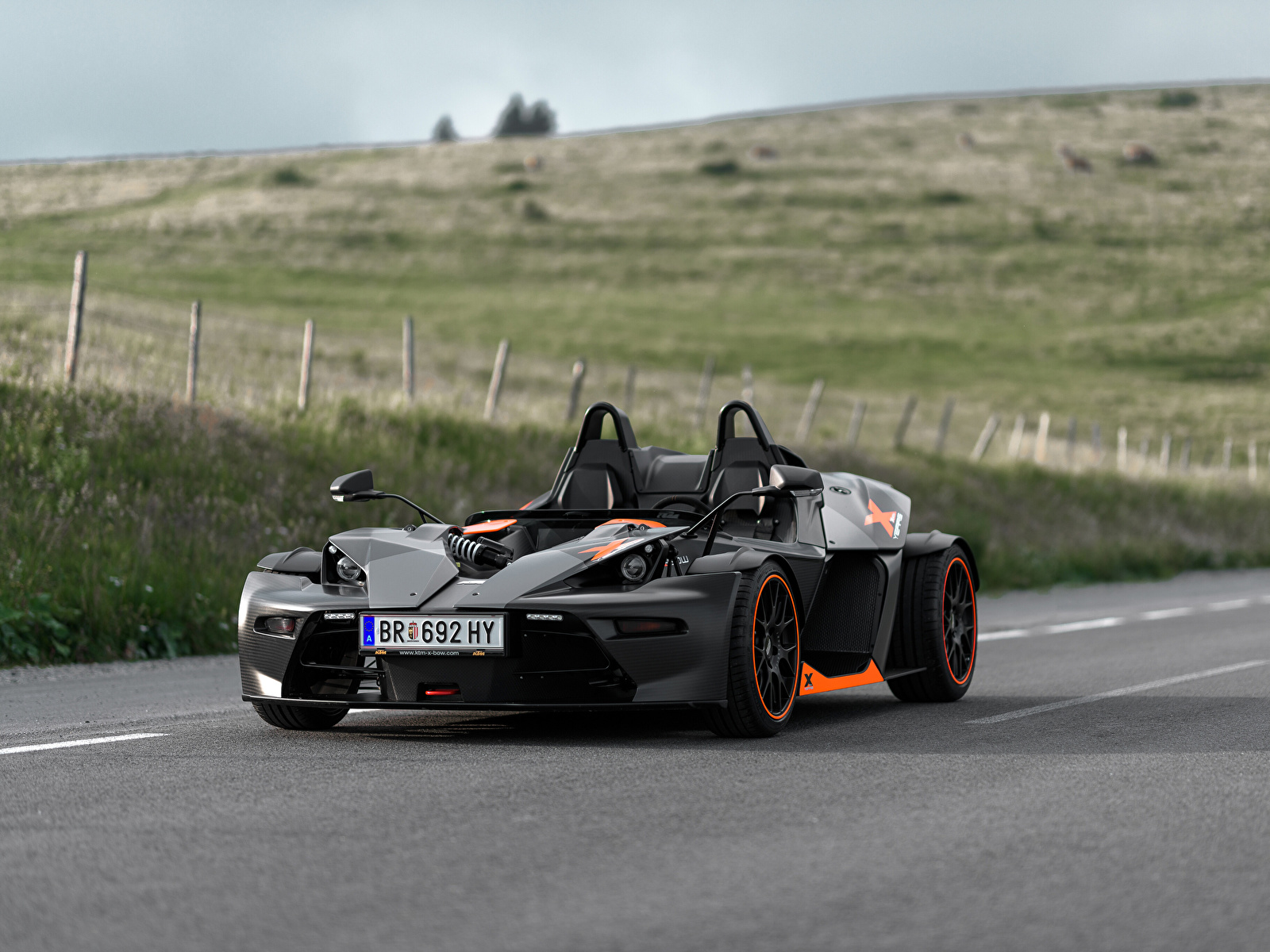 Images KTM Cars 2018-19 X-Bow 10 Years gray Cars 1600x1200 Grey auto automobile