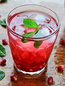 Hintergrundbilder Saft Granatapfel Trinkglas Minzen Getreide Lebensmittel