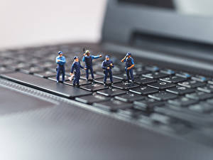 Picture Keyboard Toys Macro photography Closeup Laptops Police