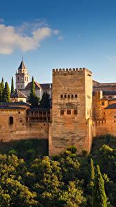 Bilder Spanien Gebäude Park Festung Alhambra de Granada