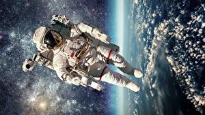 Wallpapers Cosmonauts American Space