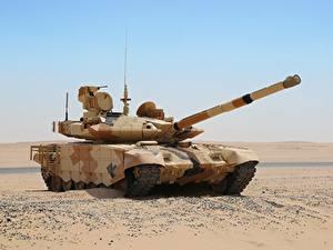 Hintergrundbilder Panzer Wüste Russische T-90MC Militär