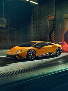 Hintergrundbilder Lamborghini Gelb 2018 Performante Novitec Huracan Autos