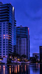Hintergrundbilder Vereinigte Staaten Gebäude Kalifornien Nacht Bucht Orange Städte