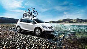 Bilder Toyota Weiß Metallisch Fahrrad 2014-16 E'z Cross Autos