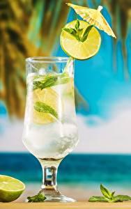 Fotos Mojito Cocktail Limette Weinglas