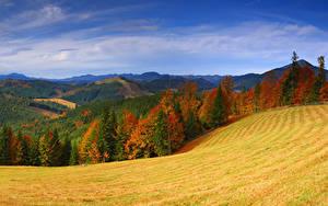 Hintergrundbilder Herbst Ukraine Gebirge Grünland Wälder Landschaftsfotografie Transkarpatien