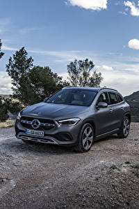 Desktop hintergrundbilder Mercedes-Benz Graue 2020 GLA 220 d 4MATIC Progressive Line Worldwide auto