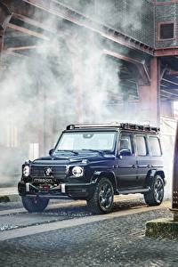 Fotos Mercedes-Benz Brabus SUV Blau 2020 Brabus Invicto VR6 Plus ERV Mission