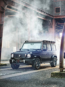 Fotos Mercedes-Benz Brabus SUV Blau 2020 Brabus Invicto VR6 Plus ERV Mission