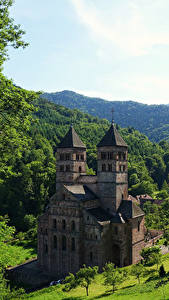 Photo France Temples Monastery Forests Murbach Abbey Cities