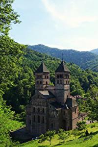 Fotos Frankreich Tempel Kloster Wälder Murbach Abbey