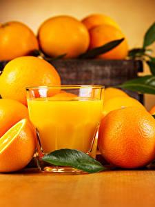 Bilder Zitrusfrüchte Orange Frucht Saft Trinkglas Lebensmittel