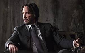Fonds d'écran John Wick 2 Homme Keanu Reeves Un complet (vêtement) Cravate Cinéma Célébrités