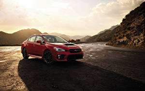 Bilder Subaru Rot 2018 WRX auto