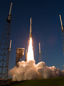 Hintergrundbilder Rakete Start Flug Rauch Abheben Atlas V