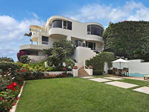 Fotos USA Haus Herrenhaus Design Rasen Strauch Laguna Beach Städte
