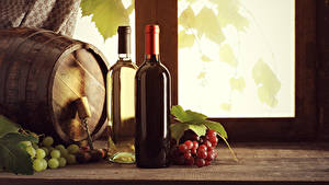 Bilder Fass Wein Weintraube Flasche