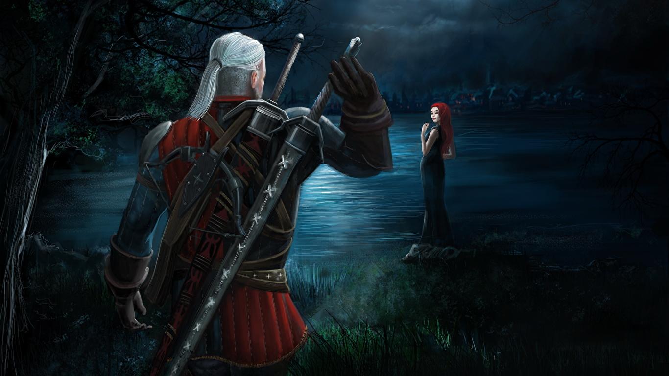 Kartinka Vedmak 3 Dikaya Ohota Mech Geralt Iz Rivii Voiny 1366x768
