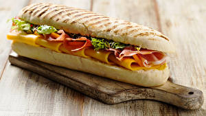 Bilder Fast food Sandwich Brötchen Schneidebrett