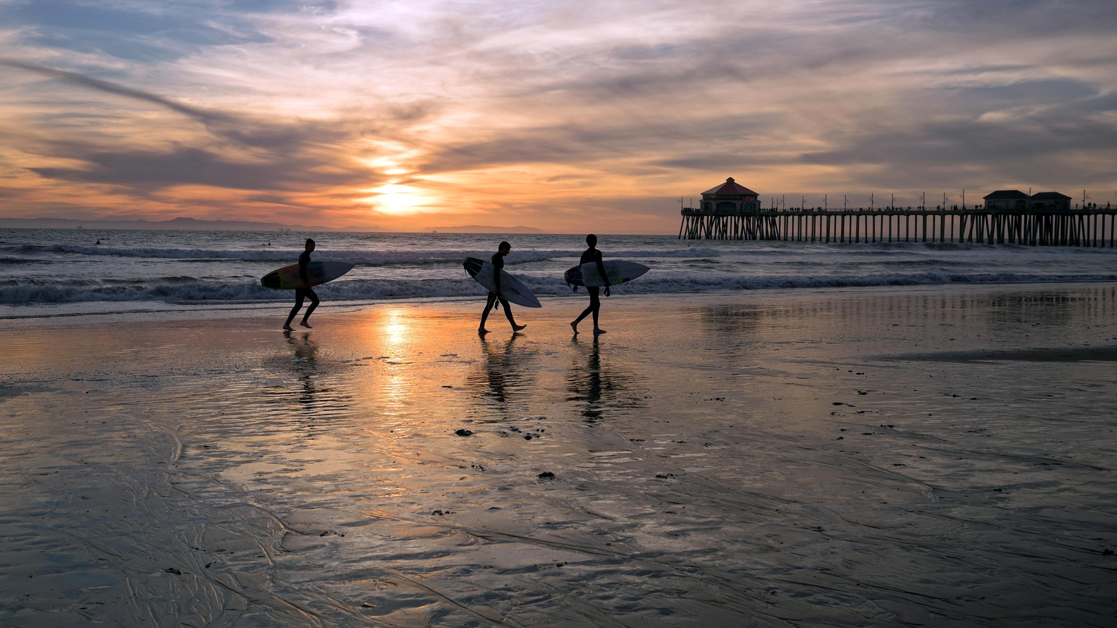 Photos Usa Montana Huntington Beach Ocean Nature Surfing