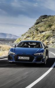 Photo Roads Audi Front Blue Motion R8 V10 quattro performance