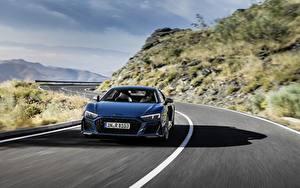 Photo Roads Audi Front Blue Motion R8 V10 quattro performance