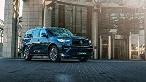 Fotos Infiniti SUV Metallisch Blau 2018-19 Larte Design Infiniti QX80 Missuro S Autos