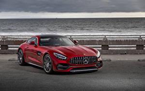 Bilder Mercedes-Benz Rot 2020 AMG GT C Autos