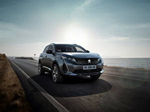 Pictures Peugeot Roads Coast Moving CUV Gray Metallic 3008 GT, 2020 automobile