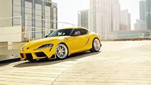 Hintergrundbilder Toyota Gelb 2020 GR Supra Autos