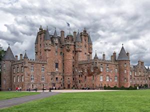 Fotos Schottland Burg Rasen Glamis Castle Städte