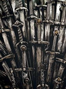 Fonds d'écran Game of Thrones En gros plan Épée Trône Cinéma