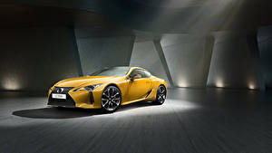 Fotos Lexus Gelb Metallisch 2018 LC 500h  Yellow Edition Autos