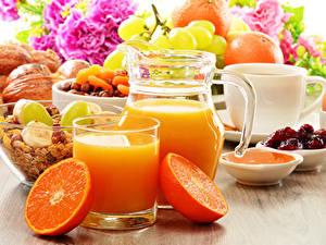 Bilder Getränke Apfelsine Saft Trinkglas Kanne Ei
