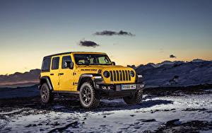 Bilder Jeep Sport Utility Vehicle Gelb 2019 Wrangler Unlimited Rubicon Autos