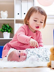 Pictures Toys 2 Little girls Baby Children
