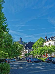 Fotos Cochem Deutschland Gebäude Stadtstraße Bäume