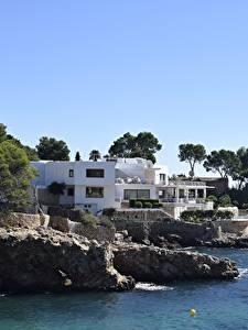 Bilder Villa Küste Spanien Bäume Mallorca, Balearic Islands