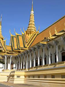 Bilder Tempel Design Phnom Penh Cambodia Städte