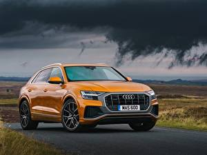 Hintergrundbilder Audi Orange Q8 Autos