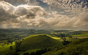 Hintergrundbilder England Landschaftsfotografie Himmel Felder Hügel Wolke Earl Sterndale
