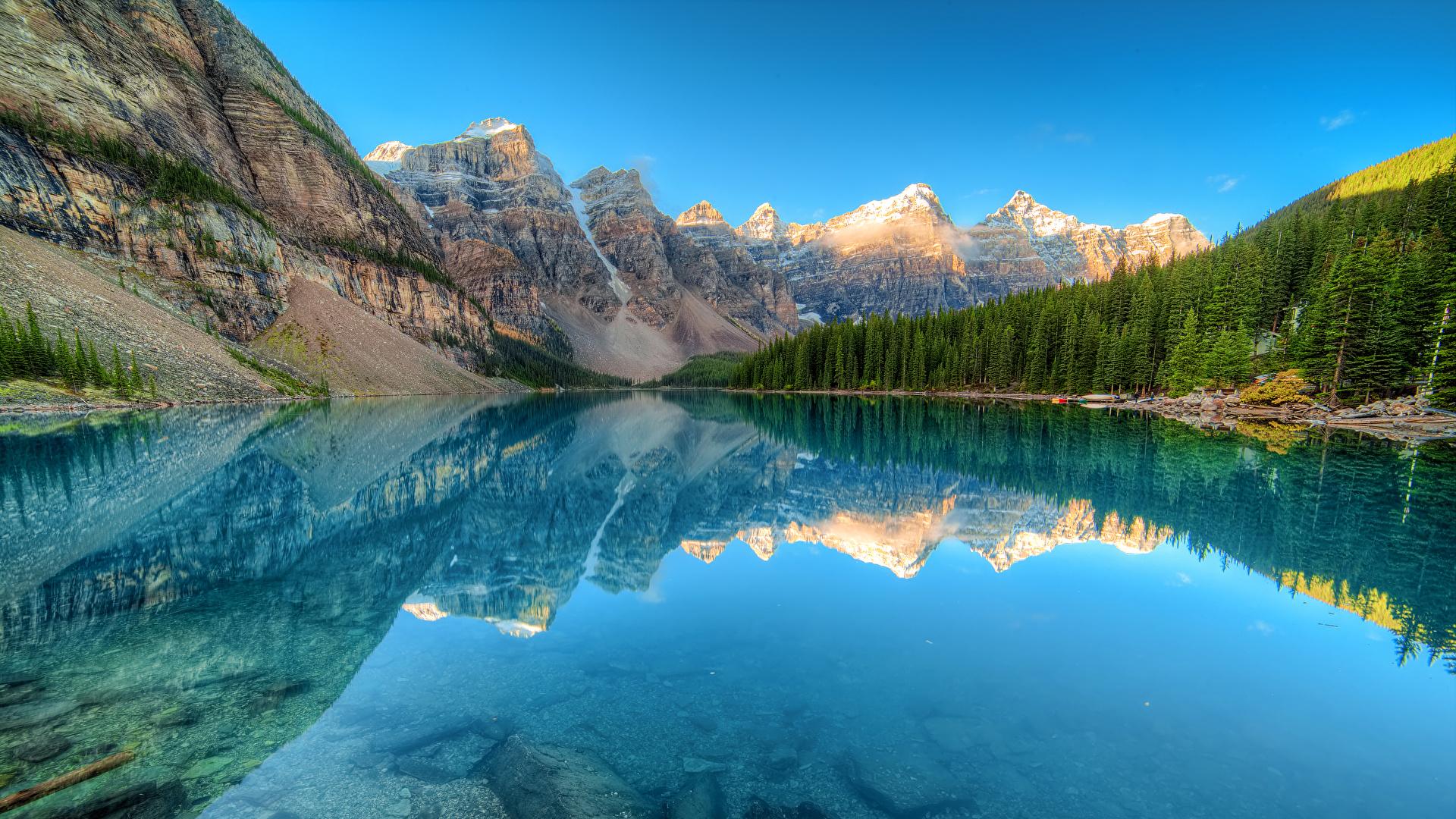 Fonds d'ecran 1920x1080 Canada Parc Montagnes Lac Forêts Photographie de paysage Moraine lake ...