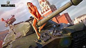 Fotos Panzer World of Tanks Nikita Bolyakov Russischer IS-3 Spiele Mädchens