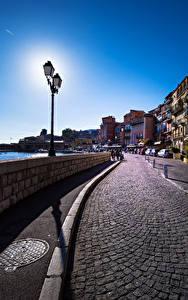 Fotos Frankreich Haus Straße Zaun Straßenlaterne Villefranche sur Mer Städte