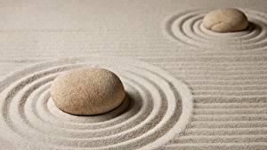 Bilder Steine Sand Kreise zen