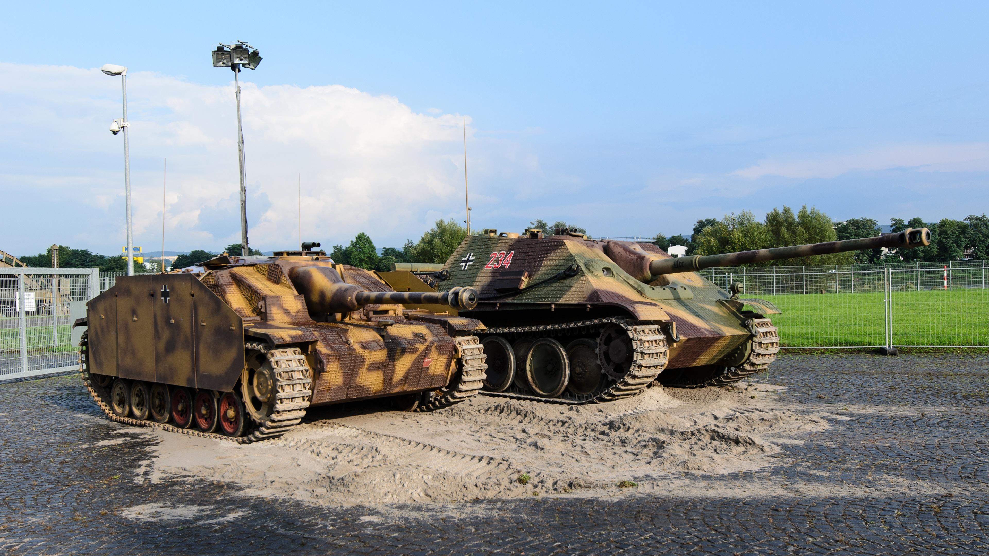 Bilder von Selbstfahrlafette Deutsch Zwei Militär 3840x2160 deutsche deutscher 2 Heer