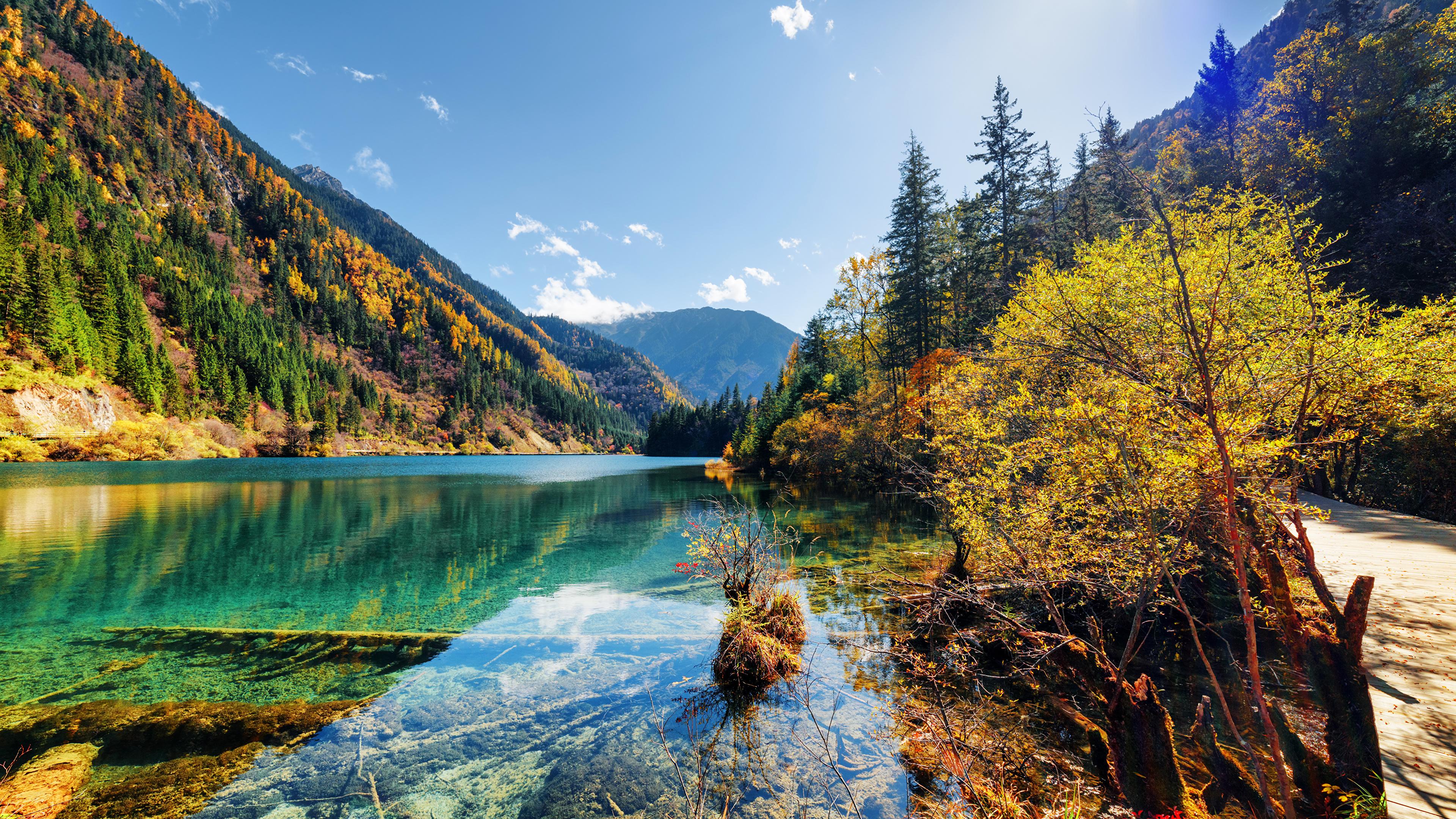 foto de Fonds d'ecran 3840x2160 Vallée de Jiuzhaigou Chine Parc